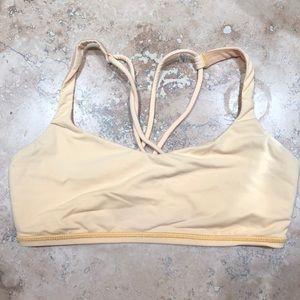 Yellow lululemon bra